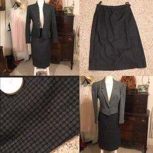 Vintage plaid checkered wool skirt